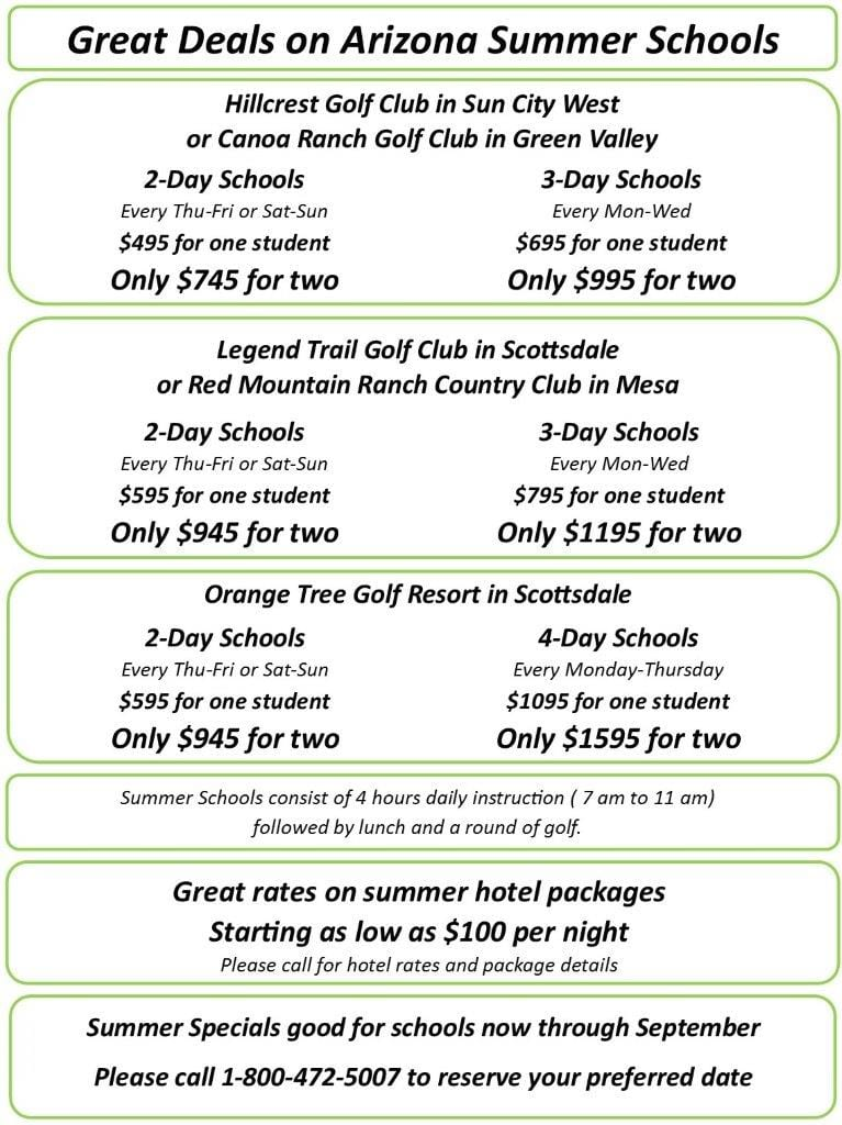 Summer Sale Book Early and Save - John Jacobs' Golf Schools & Academies